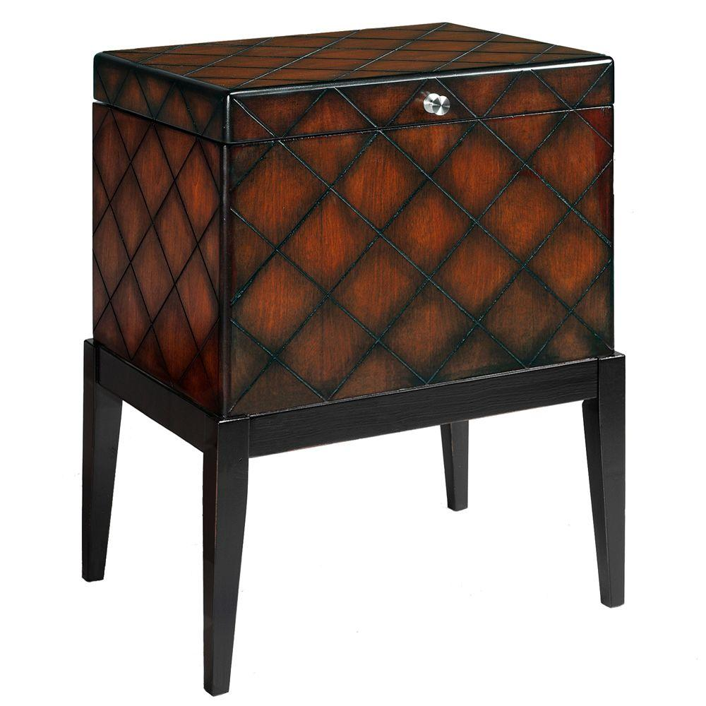Home Decorators Collection London Cherry And Black File Cabinet 0311000920 The Home Depot