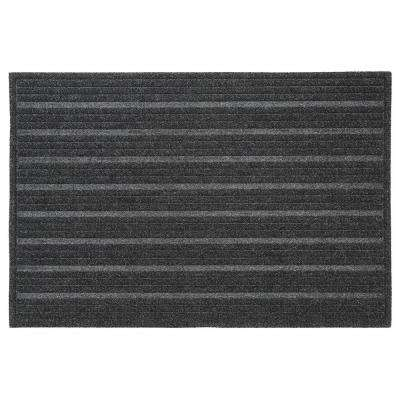 Ribbed Charcoal 18 in. x 30 in. Impressions Mat