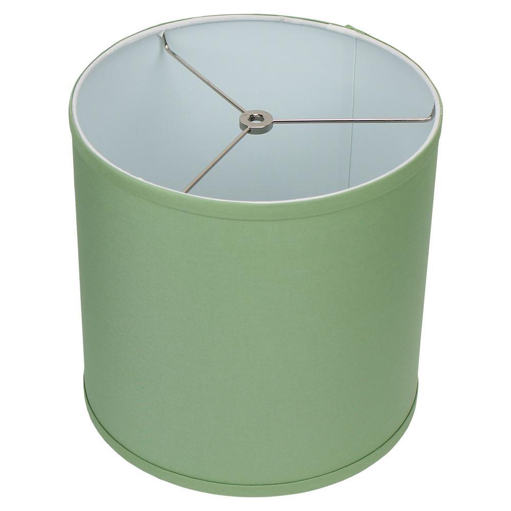 10.5 in. W x 10.5 in. H Celadon/Nickel Hardware Drum Lamp Shade