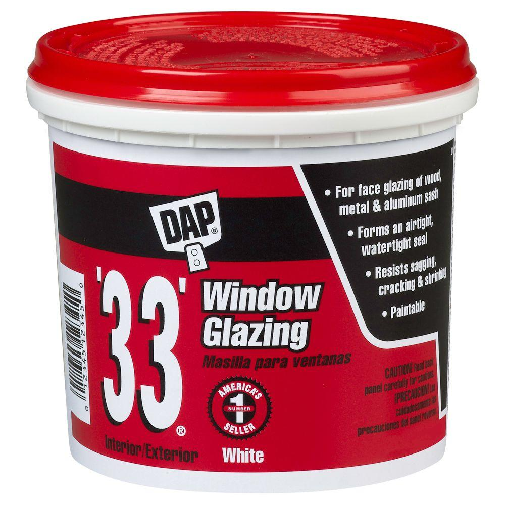 Dap 33 1 Gal White Ready To Use Window Glazing 2 Pack 7079812019 The Home Depot