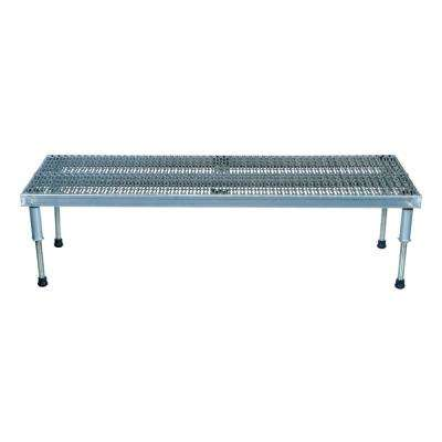 24 in. x 96 in. Aluminum Work-Mate Stand - Adjustable Height Range 9.5 in. x 15.5 in. (Serrated Deck)