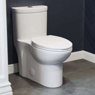 Sublime 1-Piece 0.8/1.28 GPF Dual Flush Elongated Toilet in White