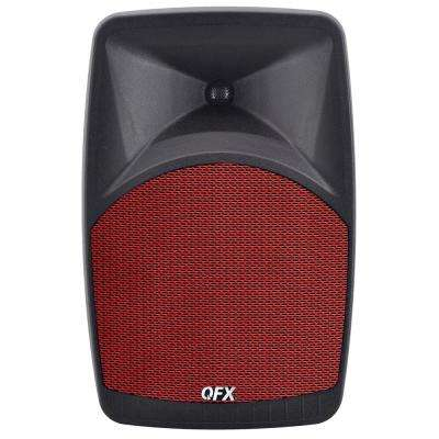 PBX-38 Elite Series Portable Bluetooth Speaker with 8 in. Woofer, FM Radio, Microphone Input and Remote Control in Red