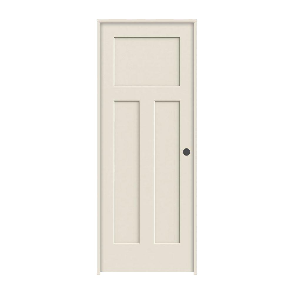 30 in. x 80 in. Craftsman Primed Left-Hand Smooth Solid Core