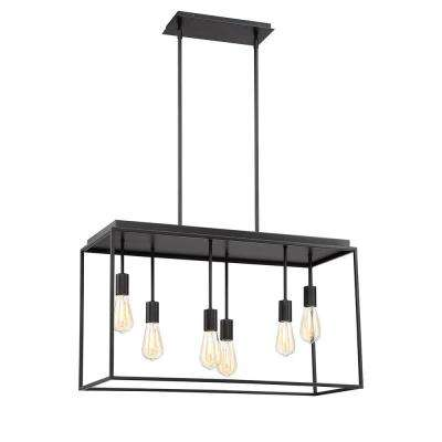 Rollins 6-Light Black Pendant