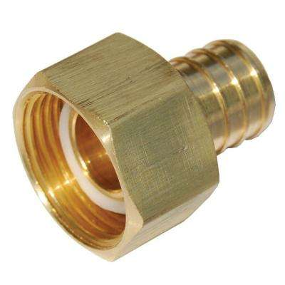 1 in. Brass PEX Barb x Female Swivel Adapter