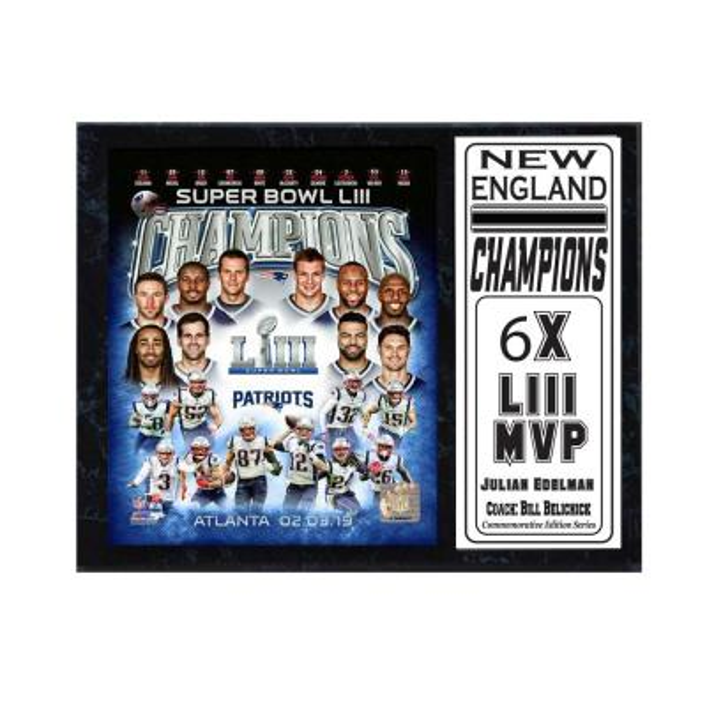 NE Patriots 53 Champions New England Football Celebration 12x15 Photo Plaque …