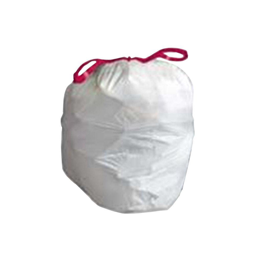 13 Gal. White Flex Drawstring Trash Liners (60-Count)