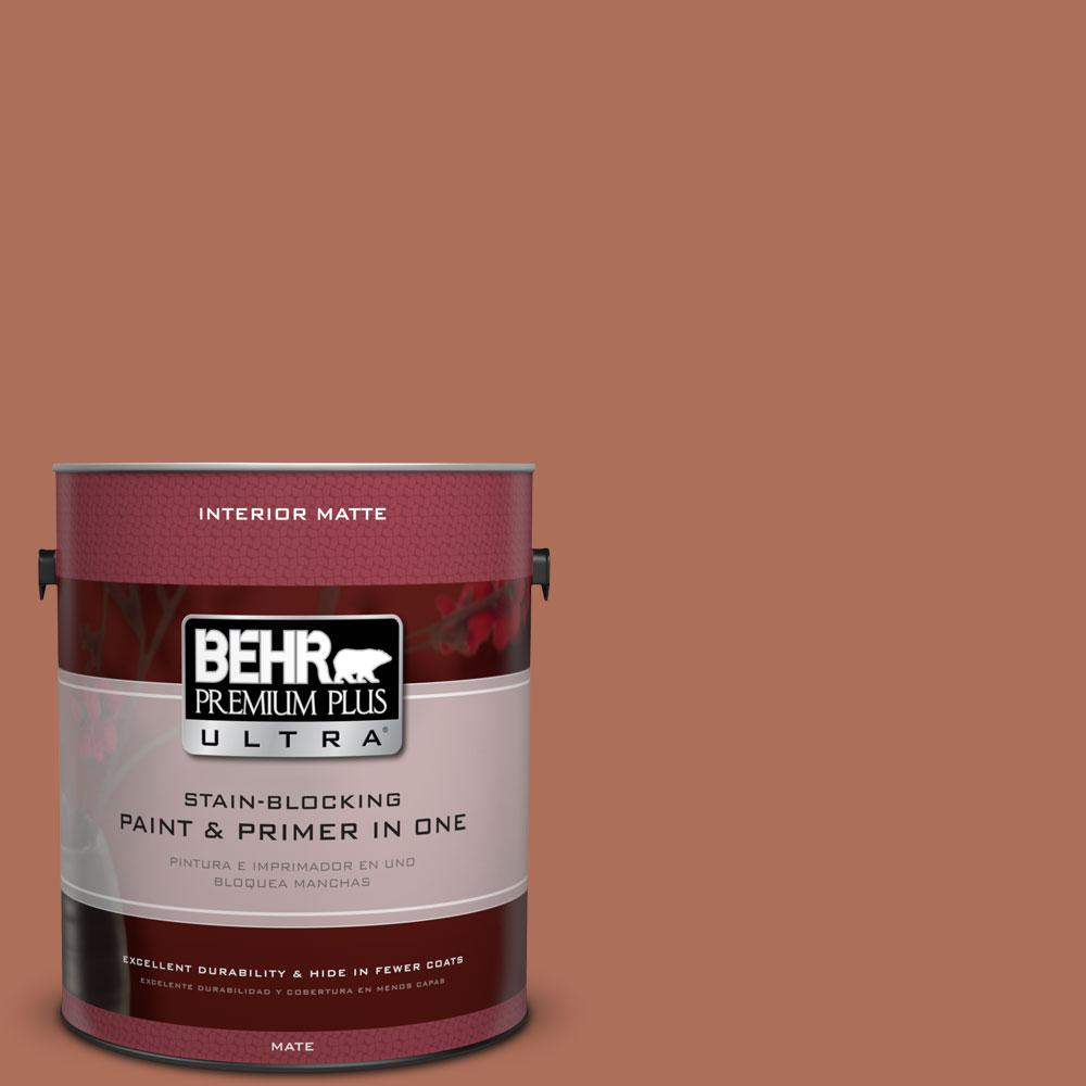 1 gal. #BXC-39 Sunset Orange Matte Interior Paint and Primer in