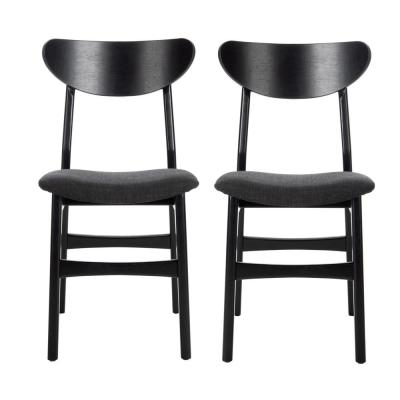 Black Dining Chairs Kitchen Dining Room Furniture The Home Depot
