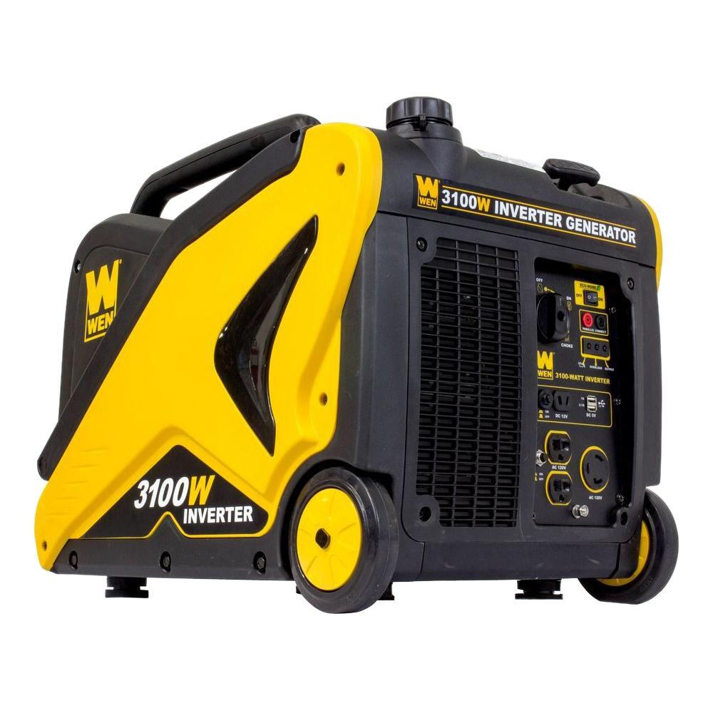 Weigh-Tronix 3100-Watt Recoil Start Portable Inverter Gen...