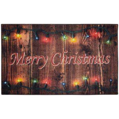 Christmas Lights Multi 2 ft. 6 in. x 4 ft. 2 in. Printed Mat