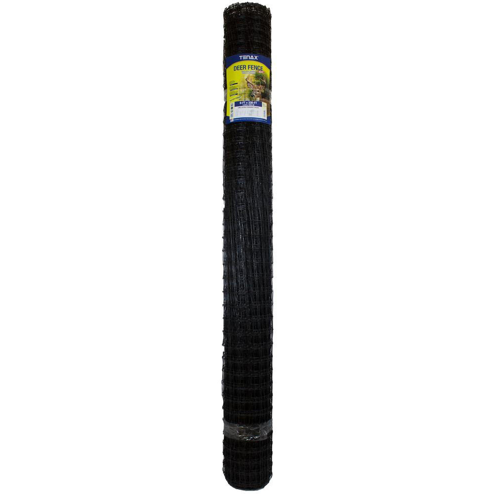 TENAX 6 ft. x 330 ft. C Flex Deer Fence, Black