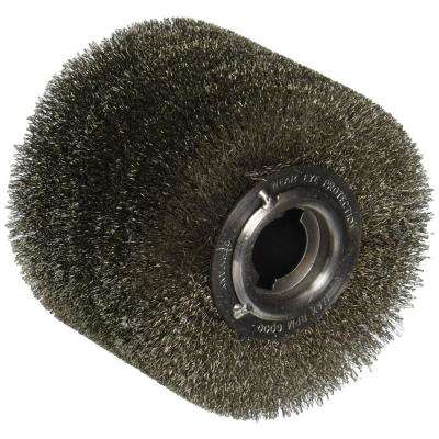 4 in. x 2 3/4 in. Steel Wire Wheel Brush INOX