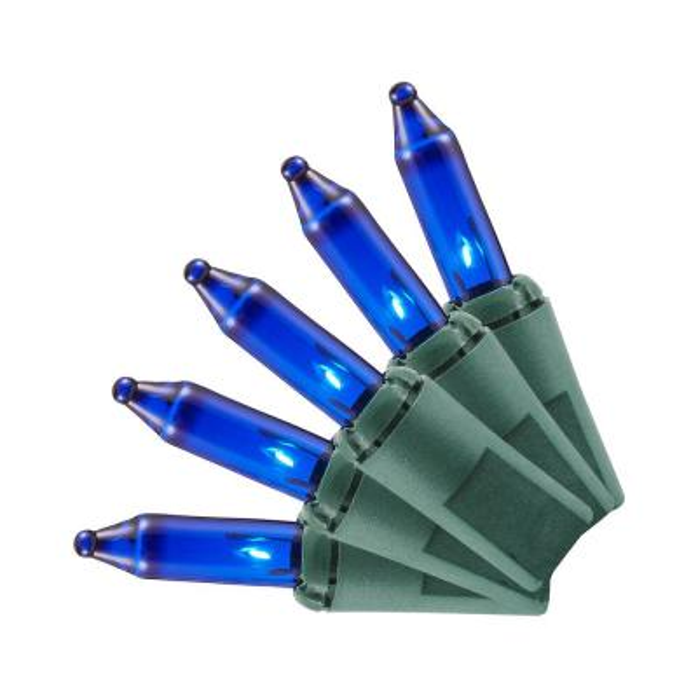 100-Light Blue Mini Incandescent Light Set