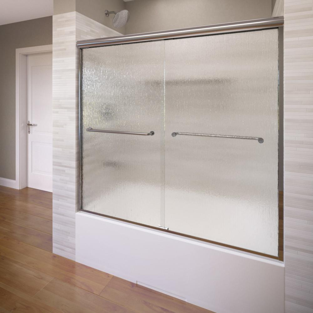 Infinity 58-1/2 in. x 57 in. Framed Sliding Tub Door in