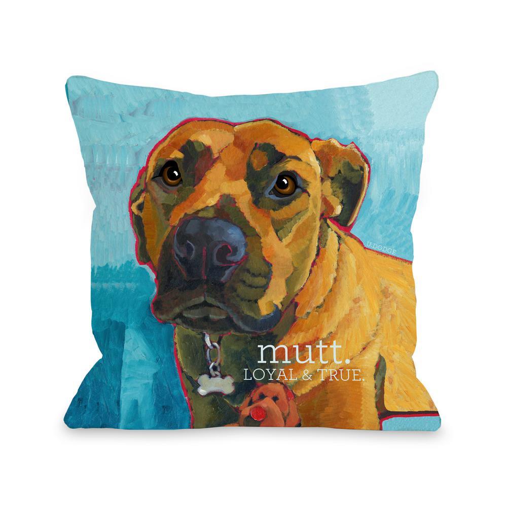 Mutt 3 16 in. x 16 in. Decorative Pillow