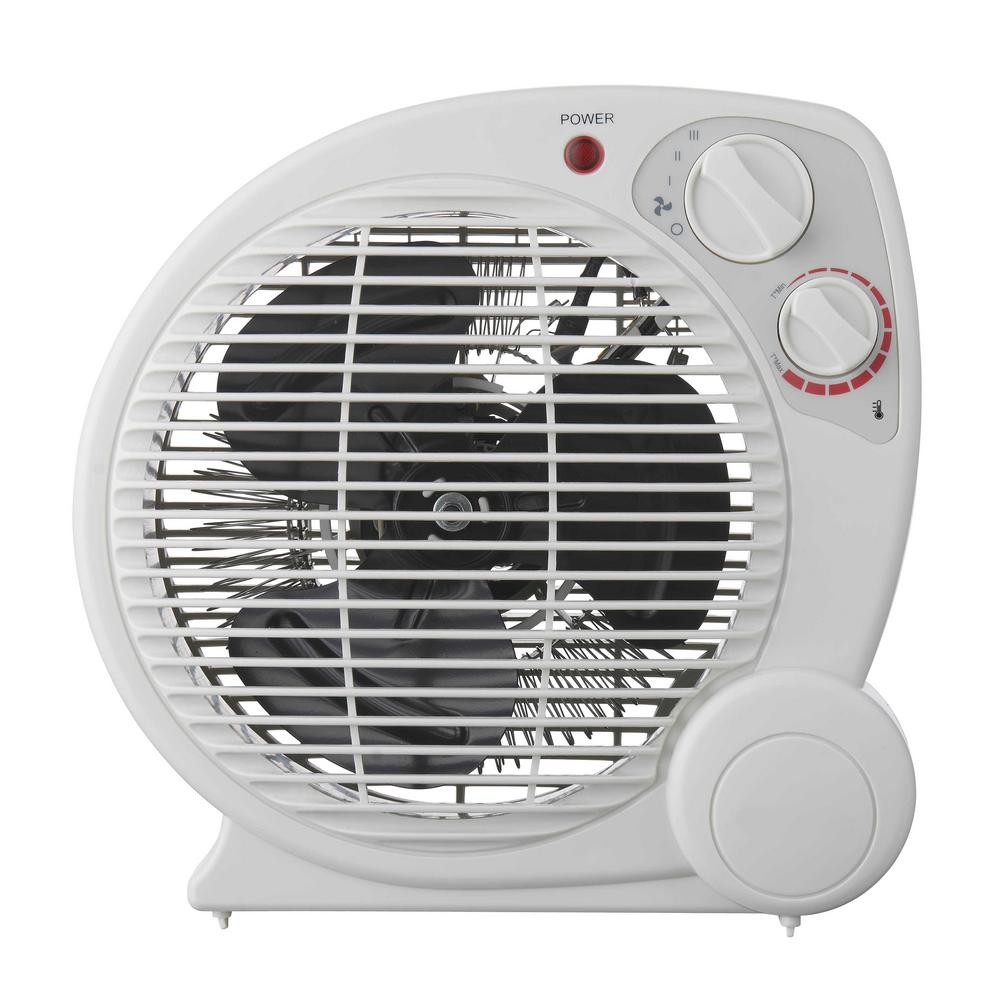 1500W PORTABLE ELECTRIC UTILITY HEATER Thermostat Home Fan Forced Space Heating