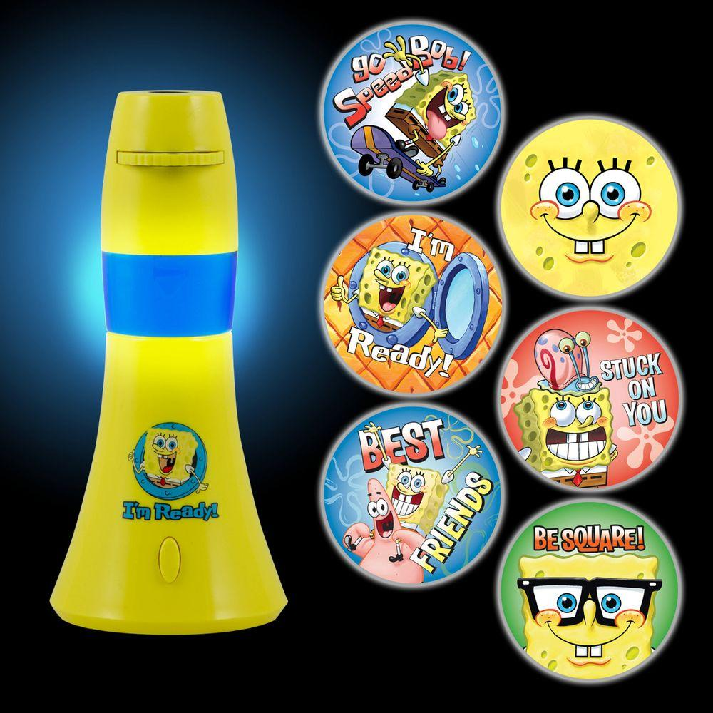 LED Projectables Sponge-Bob Square-Pants Projectables Battery-Operated LED Night Light