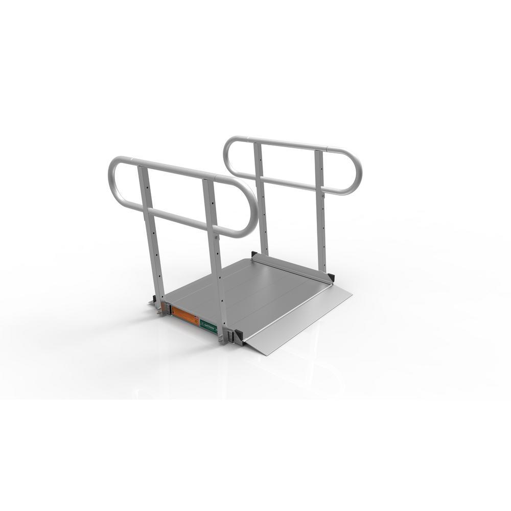 EZ-ACCESS GATEWAY 3G 3 ft. Aluminum Solid Surface Portable Ramp with 2-Line Handrails