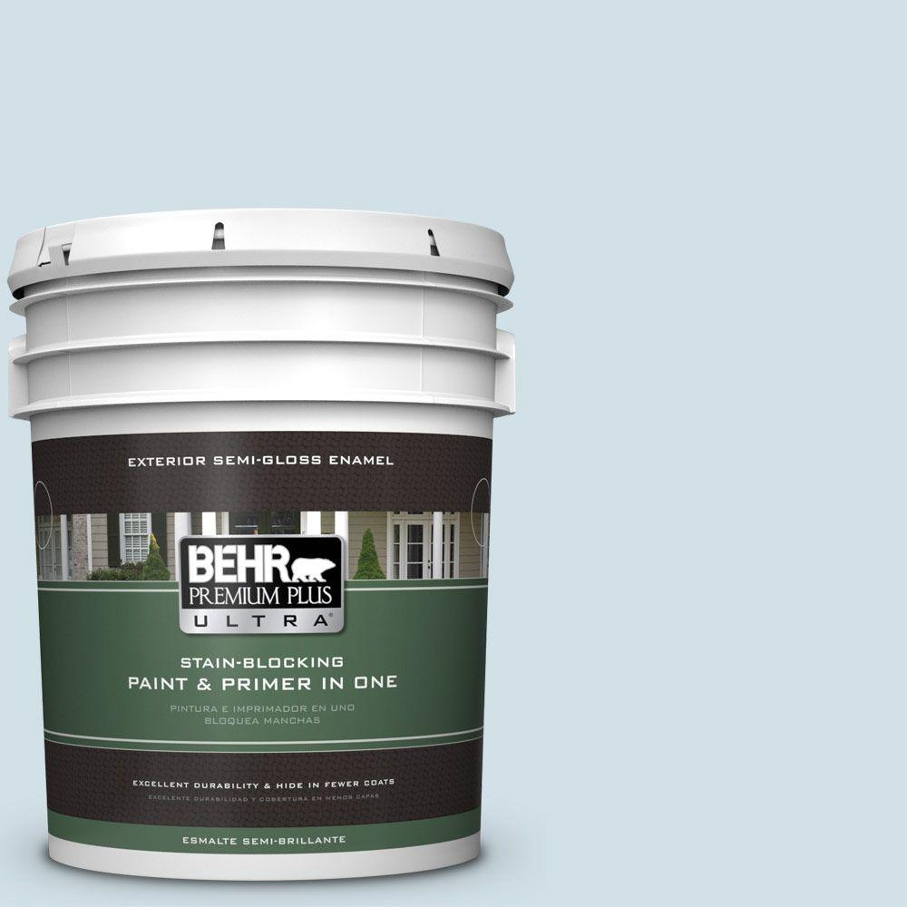 BEHR Premium Plus Ultra 5-gal. #530E-2 Cool Sky Semi-Gloss Enamel Exterior Paint