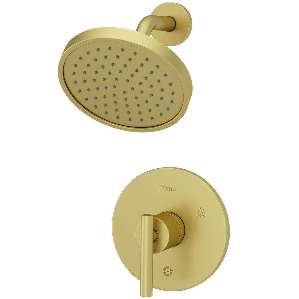 Pfister Contempra 1-Handle Shower Faucet Trim in Brushed Gold (Valve ...