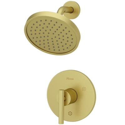 Contempra 1-Handle Shower Faucet Trim in Brushed Gold (Valve Not Included)