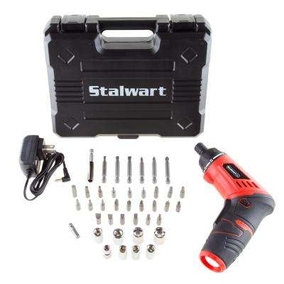 3.6-Volt Lithium Ion Dual Position Cordless Screwdriver Set (40-Piece)