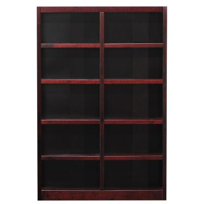 Midas Double Wide Wood Bookcase, 10 Shelves, 72 in. H, Cherry Finish