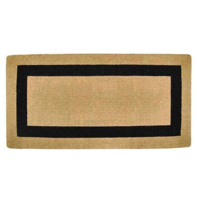 Single Picture Frame Black 36 in. x 72 in. Heavy-duty Coir Door Mat