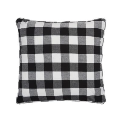 Franklin Black Geometric Down Alternative 20 in. x 5 in. Throw Pillow