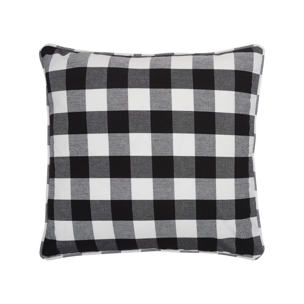 Franklin Black Geometric Down Alternative 20 in. x 5 in. Throw Pillow