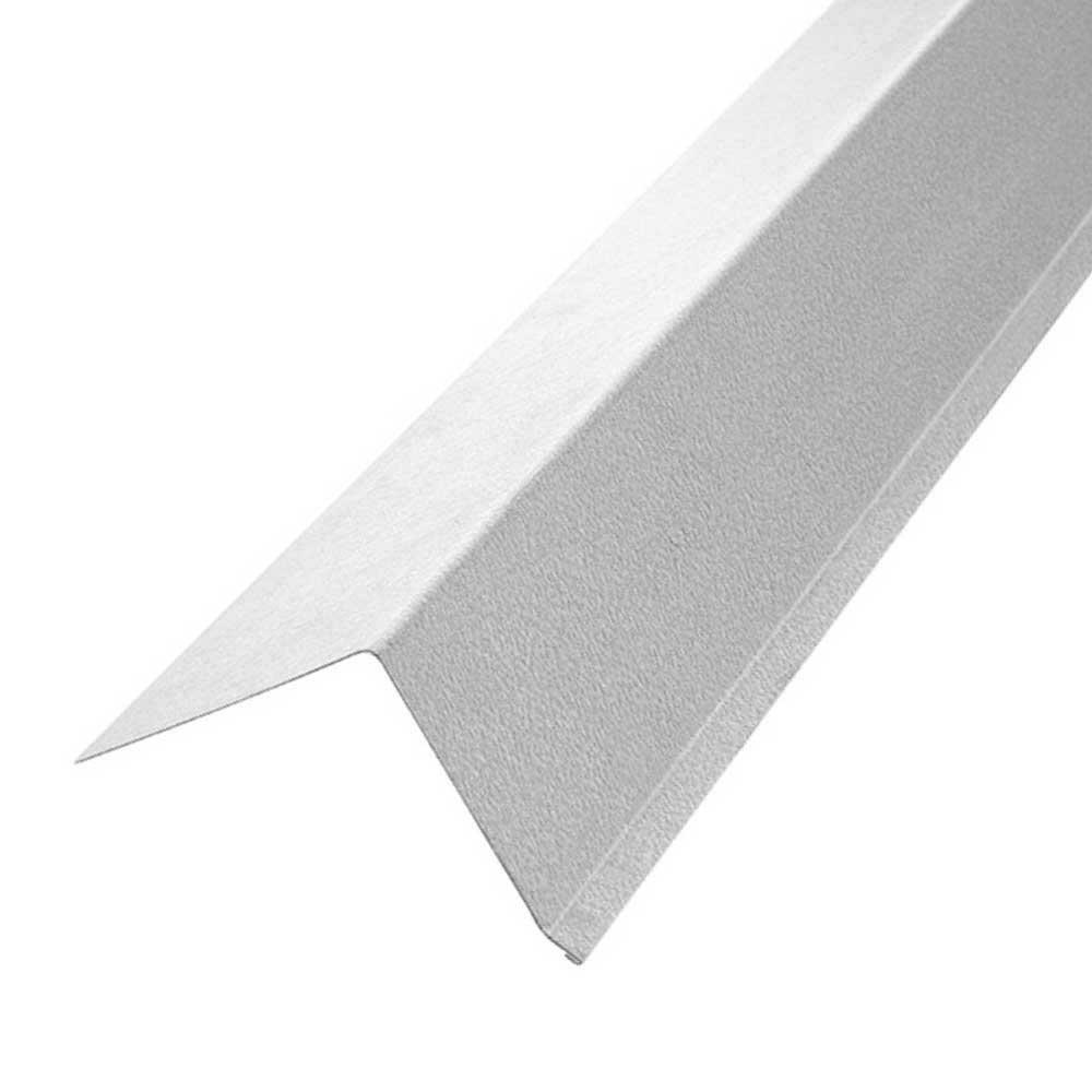 Construction Metals 3 in. x 3 in. x 10 ft. Galvanized Steel Drip Edge Flashing