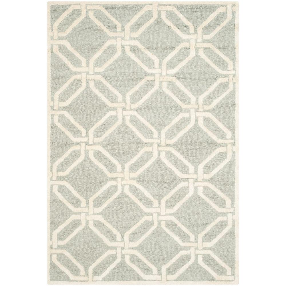Cambridge Light Gray/Ivory 4 ft. x 6 ft. Area Rug