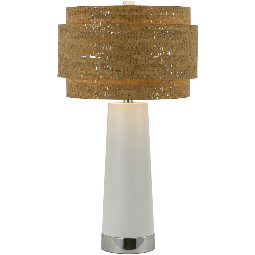 Af lighting aviva 325 in pearl table lamp with cork shade 8402 pearl table lamp with cork shade geotapseo Choice Image