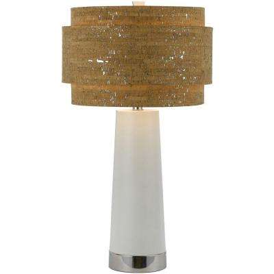8402 32.5 in. Chrome Table Lamp