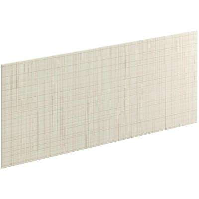 Choreograph 0.3125 in. x 60 in. x 28 in. 1-Piece Shower Wall Panel in Biscuit with Linen Texture