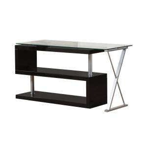 Acme Furniture Buck 2-Piece Clear Glass and Black Office Suite Writing Desk by Acme Furniture