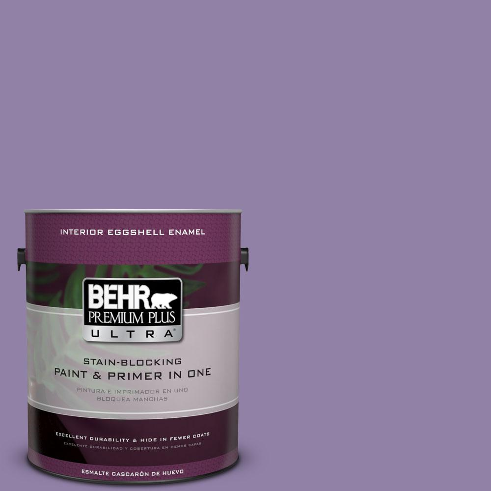 BEHR Premium Plus Ultra 1-gal. #650D-5 Fabulous Grape Eggshell Enamel Interior Paint