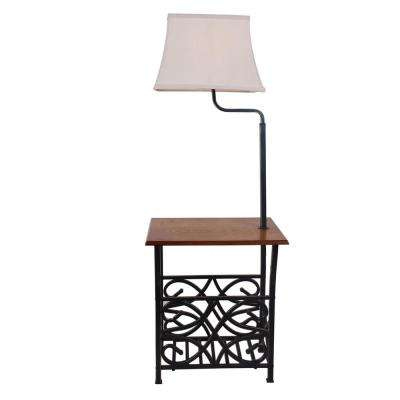 54 in. Oil Rubbed Bronze with Magazine Rack Floor Lamp