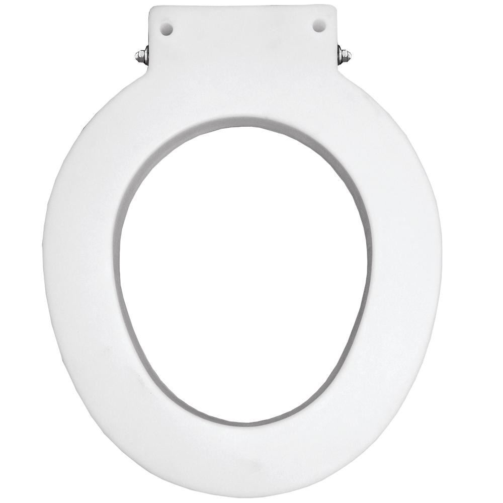 BEMIS Medic-aid round closed front commercial toilet seat spacer with 4 in. lift in white