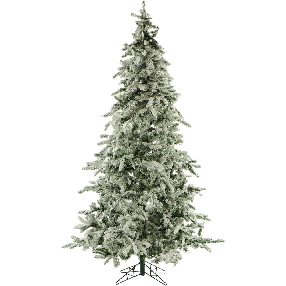 9 ft. Unlit Flocked Mountain Pine Artificial Christmas Tree