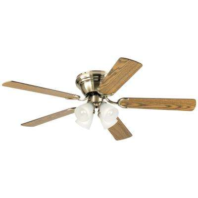 Contempra IV 52 in. Antique Brass Ceiling Fan