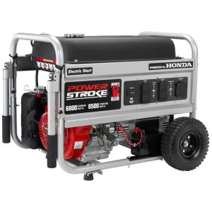 powerstroke  watt gasoline powered electric start