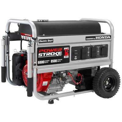 6,800-Watt Gasoline Powered Electric Start Portable Generator with Honda GX390 Engine