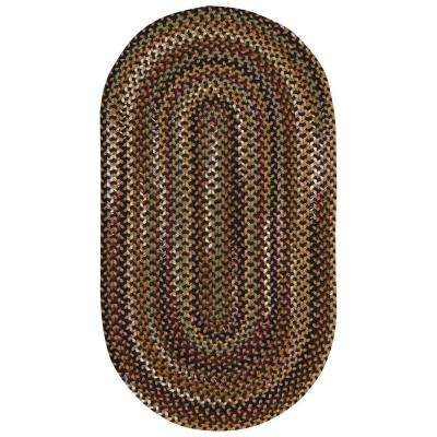 Bangor Very CharCoal 2 ft. 3 in. x 4 ft. Oval Area Rug