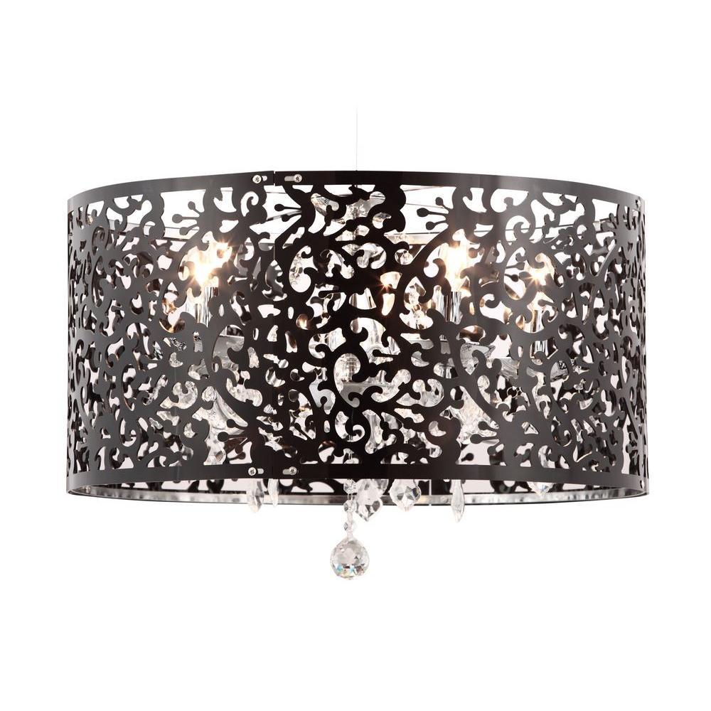 Nebula 5-Light Chrome Ceiling Lamp