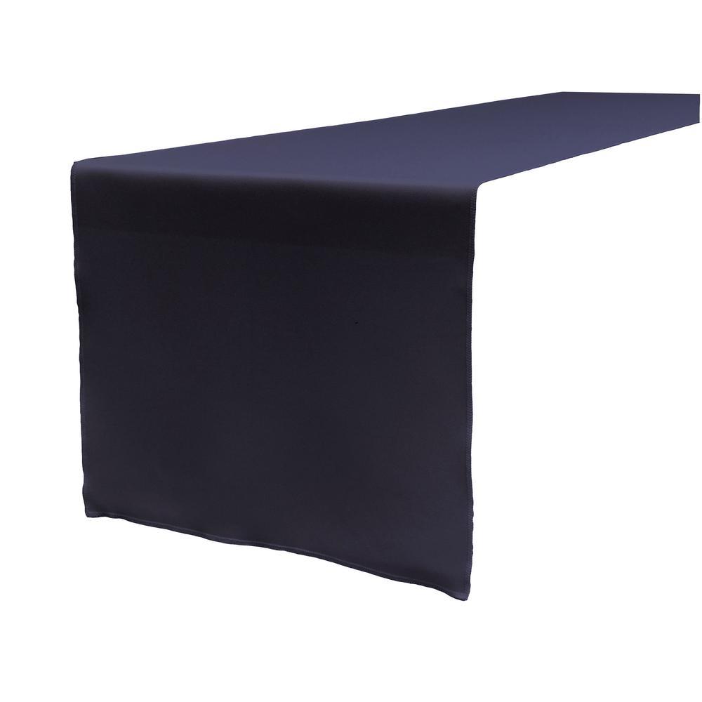 Navy Blue Polyester Poplin Table Runner