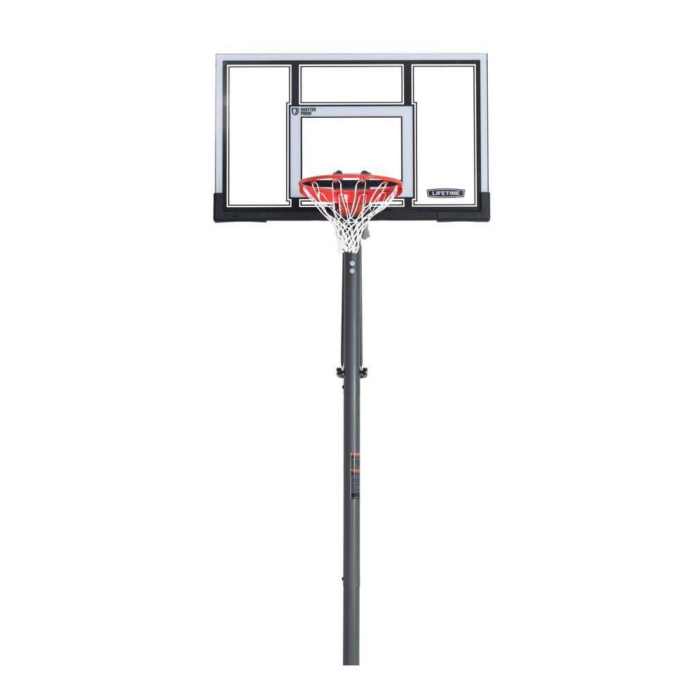 54 in. Polycarbonate Adjustable In-Ground Basketball Hoop