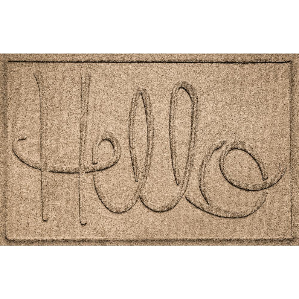 Simple Hello Camel 24 in. x 36 in. Polypropylene Door Mat